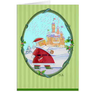 Greetings From Santa's Castle Card