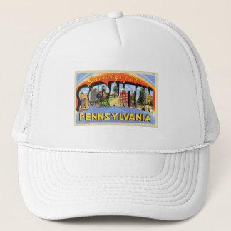 Greetings From Scranton, PA Letter Postcard Trucker Hat