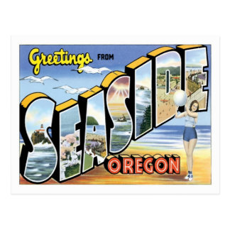 Greetings From Seaside Oregon US City Postcard
