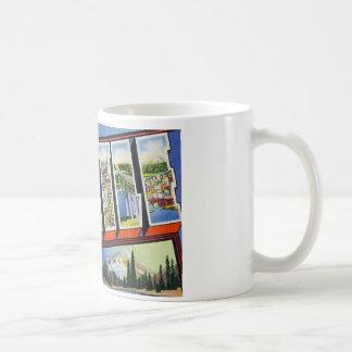 Greetings from Seattle Washington Basic White Mug