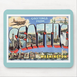 Greetings From Seattle, Washington USA Mouse Pad
