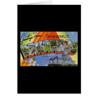 Greetings from Shawmut Arkansas Card