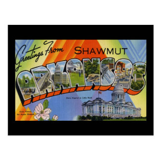 Greetings from Shawmut Arkansas Postcard