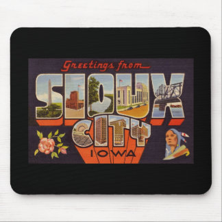 Greetings from Sioux City Iowa Mouse Pad