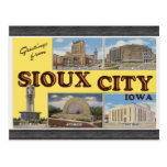 Greetings From Sioux City Iowa, Vintage Postcard