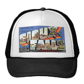 Greetings From Sioux Falls South Dakota, Vintage Cap