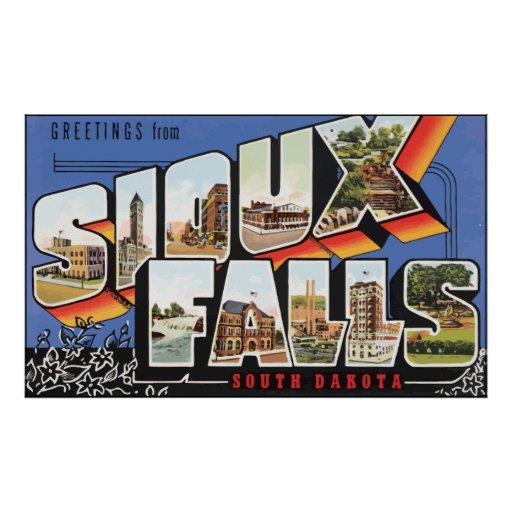 Greetings From Sioux Falls South Dakota, Vintage Posters