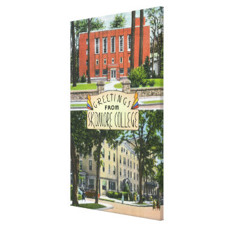 Greetings from Skidmore College Scenes Canvas Print