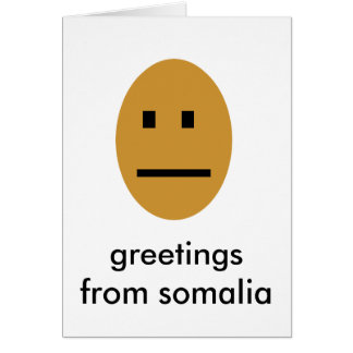 Greetings from somalia card