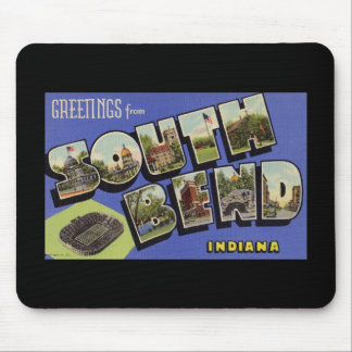 Greetings from South Bend Indiana Mouse Mat