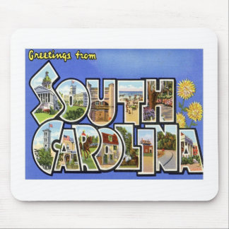 Greetings From South Carolina SC Mouse Pad