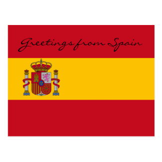 Greetings From Spain  Postcard
