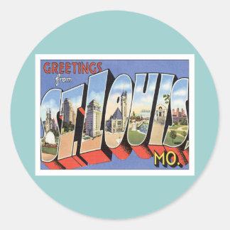 Greetings From St.Louis Missouri Round Sticker