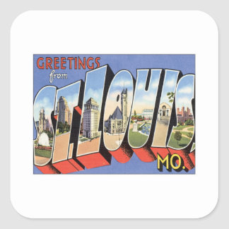 Greetings From St.Louis Missouri Square Stickers