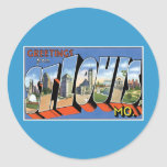 Greetings from St. Louis, MO! Round Sticker