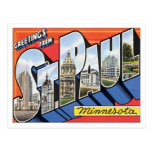 Greetings From St.Paul Minnesota Post Cards