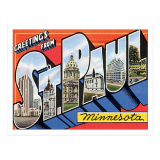 Greetings From St.Paul Minnesota Postcard