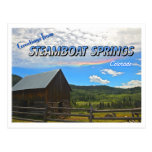 Greetings from Steamboat Springs, Colorado Postcards
