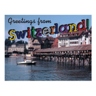 Greetings from Switzerland! Postcard