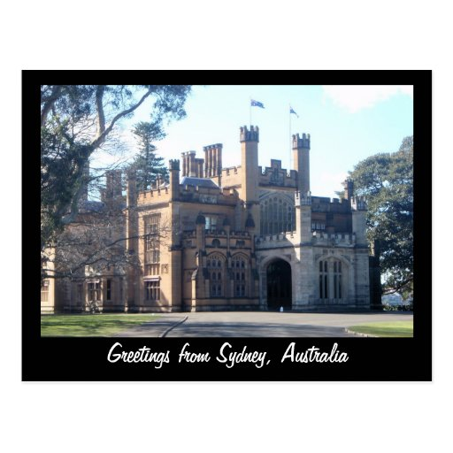Greetings from Sydney, Australia Post Card