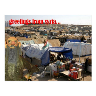 greetings from syria picture postcard
