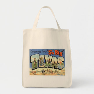 Greetings From Texas Grocery Tote Bag