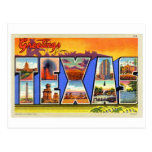Greetings From Texas Letter Style Travel Postcard