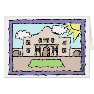 Greetings from The Alamo San Antonio Texas Greeting Card
