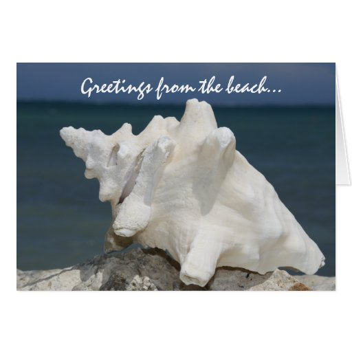 Greetings from the beach... card