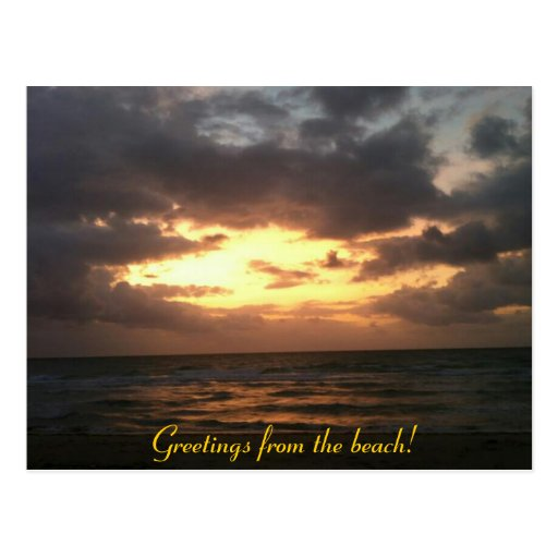 greetings from the beach postcards
