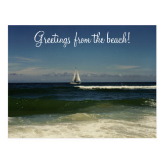 Greetings from the beach postcard