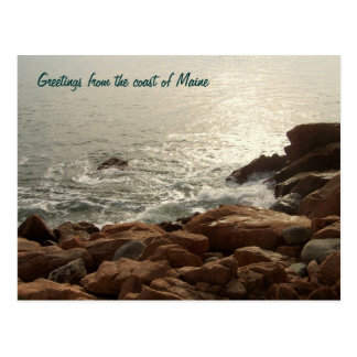 Greetings from the coast of Maine Postcard