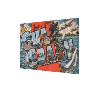Greetings from the Gulf Coast Gallery Wrap Canvas