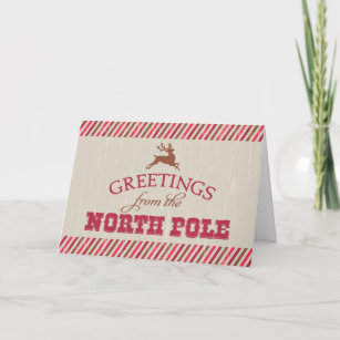 Greetings from north pole gifts gift ideas zazzle uk greetings from the north pole christmas card m4hsunfo