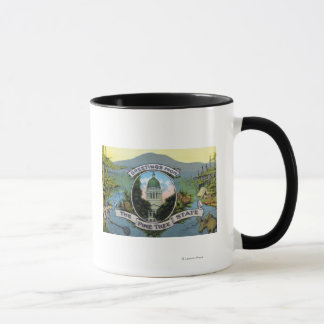 Greetings From the Pine Tree State, Scenic Mug