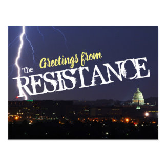 """""""Greetings From the Resistance"""" Postcard"""