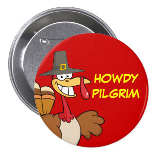 Greetings from the Thanksgiving Day Turkey 7.5 Cm Round Badge