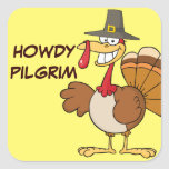 Greetings from the Thanksgiving Day Turkey Square Sticker