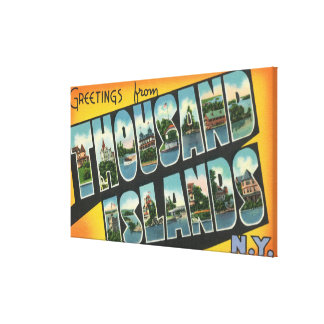 Greetings from Thousand Islands New York Gallery Wrapped Canvas