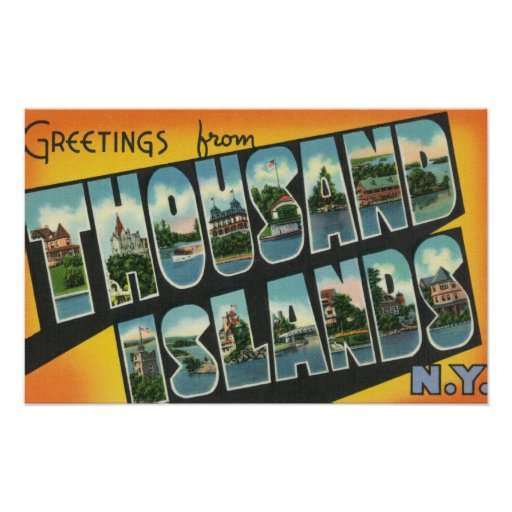 Greetings from Thousand Islands, New York Posters