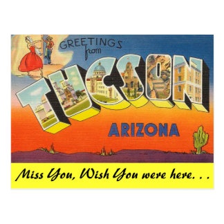 Greetings from Tucson Postcard