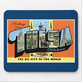 Greetings from Tulsa, Oklahoma! Mouse Mat