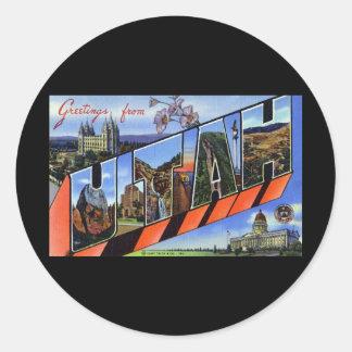 Greetings from Utah Stickers
