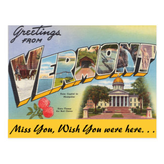 Greetings from Vermont Postcard