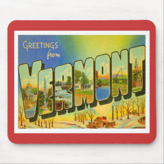 Greetings From Vermont USA Mouse Pad