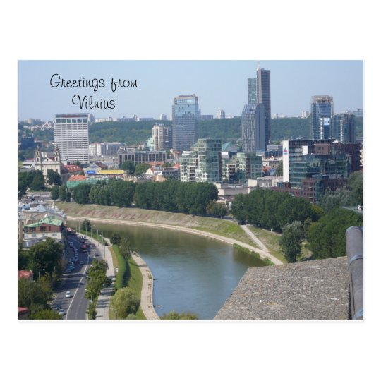 Greetings from Vilnius Postcard