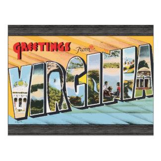 Greetings From Virginia, Vintage Postcard