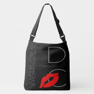 Greetings from Washington D.C. Red Lipstick Kiss Crossbody Bag