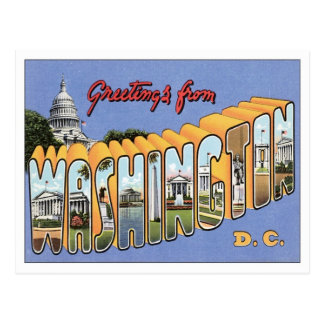 Greetings From Washington, D.C. USA Postcard