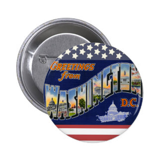 Greetings From Washington DC! 6 Cm Round Badge